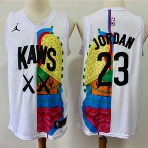 New Authentic KAWS JORDAN NBA Basketball Jersey